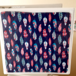 Reversible Fabric Insert for 3 Ring Binder and Matching Bookmark