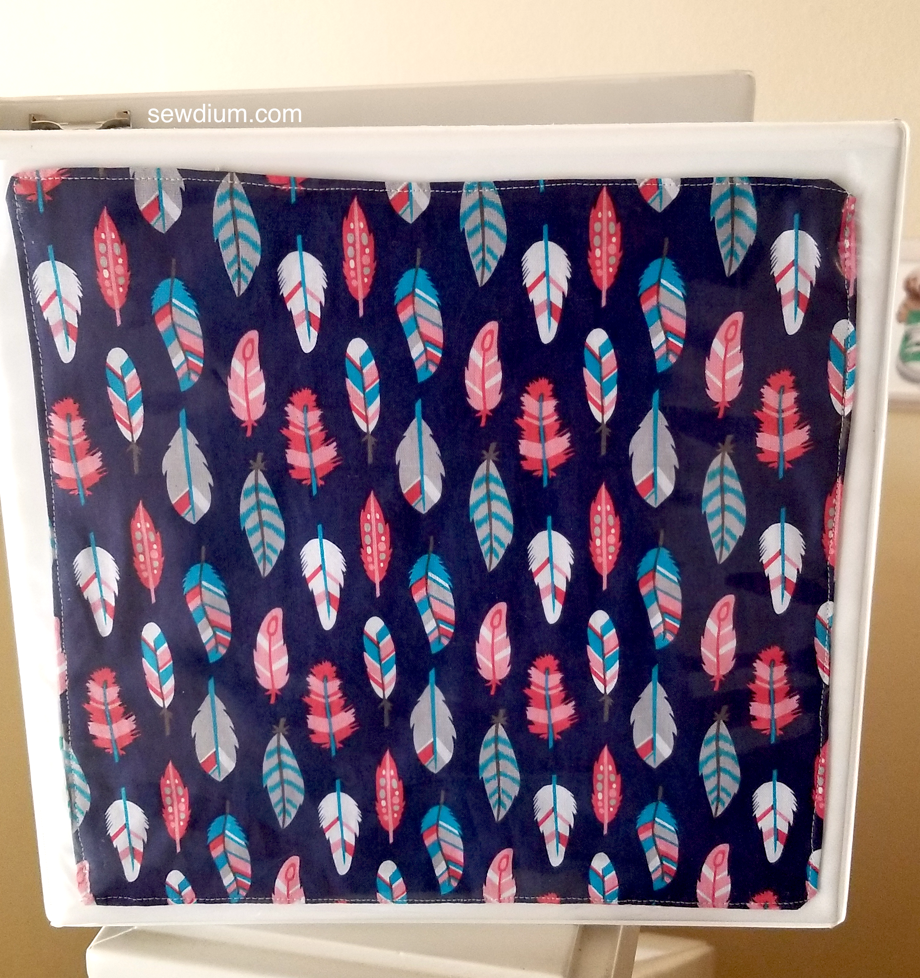 reversible fabric insert for 3 ring binder sewdium