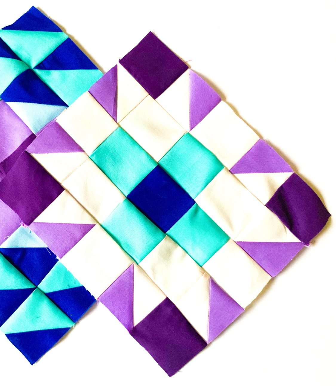 Half-square Triangle Quilt and Coordinating Pillow